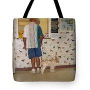 Dog Owner Dog Vet's Office Casa Grande Arizona 2004 Tote Bag by David Lee Guss