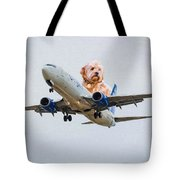 Dog Pilot Tote Bag