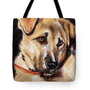 Dog Portrait Drawing Tote Bag