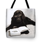 Dog Reading James Thurber Tote Bag