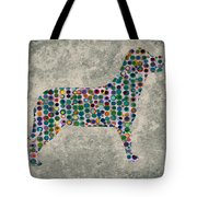 Dog Silhouette Digital Art Tote Bag