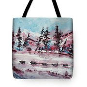 Dog Sled Tote Bag