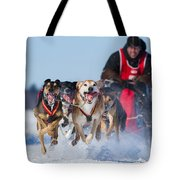Dog Sledding Race Tote Bag