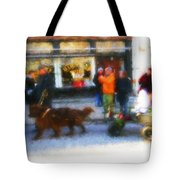 Dog Sleigh Ride Tote Bag