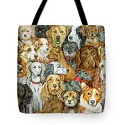 Dog Spread Tote Bag by Ditz