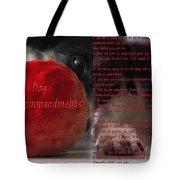 Dog Ten Commandments Tote Bag