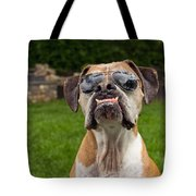 Dog Wearing Sunglass Tote Bag by Stephanie McDowell