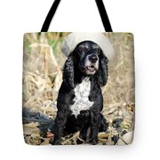 Dog With A Sailor Hat Tote Bag