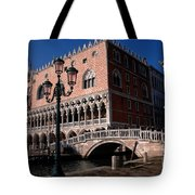 Doges Palace With Bridge Of Sighs Tote Bag