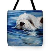 Doggie Paddle Tote Bag