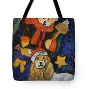 Doggie Xmas Stocking 03 Photo Art Tote Bag