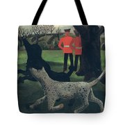 Dogs At Play Tote Bag