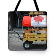 Dog's Life In Canada Tote Bag
