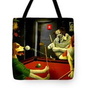 Dogs Playing Pool Wall Art Unknown Painter Tote Bag