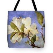 Dogwood Blossoms And Blue Sky - D007963-b Tote Bag