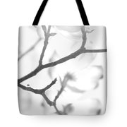 Dogwood Blossoms Black And White Tote Bag