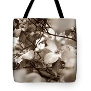 Dogwood Blossoms Tote Bag by Sharon Popek