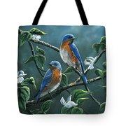 Dogwood Blues Tote Bag