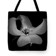 Dogwood In Black And White Tote Bag