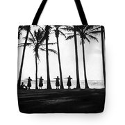 Doing The Hula At Sunset Tote Bag