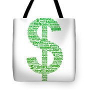 Dollar Sign Tote Bag by Aged Pixel