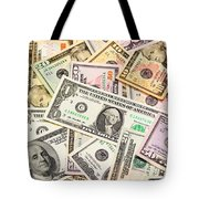 Dollars Background.  Tote Bag