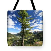 Dolomites - Tree Over The Valley Tote Bag