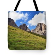 Dolomites On Summer Tote Bag
