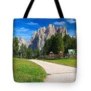 Dolomiti - Gardecia With Catinaccio Mount Tote Bag
