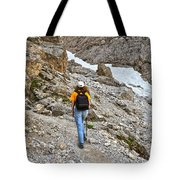 Dolomiti - Hiker In Val Setus Tote Bag