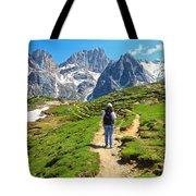 Dolomiti - Hiking In Contrin Valley Tote Bag
