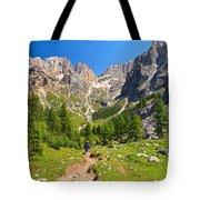 Dolomiti -landscape In Contrin Valley Tote Bag