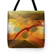 Dolphin Abstract - 2 Tote Bag by Kae Cheatham