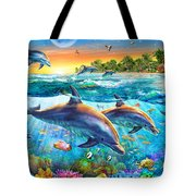 Dolphin Bay Tote Bag by Adrian Chesterman
