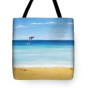 Dolphin Beach Tote Bag