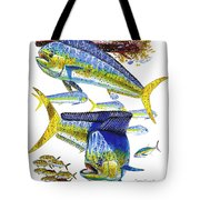 Dolphin In Weedline Tote Bag