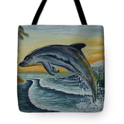 Dolphin Jumping Tote Bag
