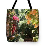 Dolphinfountain And Flowers - France Tote Bag