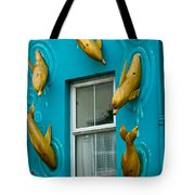 Dolphins At The Window Tote Bag