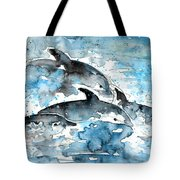 Dolphins In Gran Canaria Tote Bag