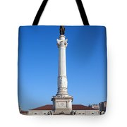 Dom Pedro Iv Monument In Lisbon Tote Bag