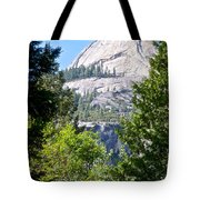 Dome Next To Half Dome Seen From Yosemite Valley-2013 Tote Bag