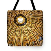 Dome Of St Peter's Basilica Vatican City Italy Tote Bag