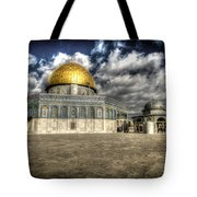 Dome Of The Rock Closeup Hdr Tote Bag