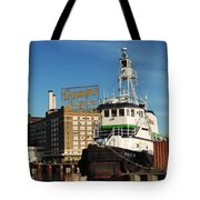 Domino Sugars Baltimore With A Boat Tote Bag