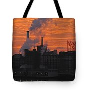 Domino Sugars Sunrise Tote Bag