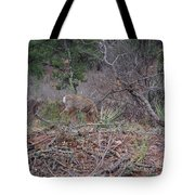 Donkey Deer Feeding Tote Bag