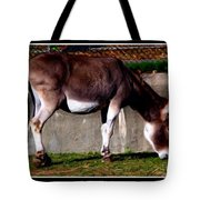 Donkey With Oil Painting Effect Tote Bag