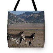 Donkeys In The Colorado Rockies Tote Bag