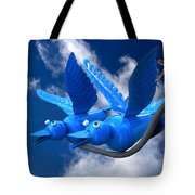 Donna's 1st Blue Bird Flight Tote Bag